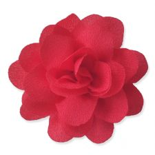 5cm Small Rose RED Fabric Flower Applique